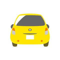 黄色の車 背面