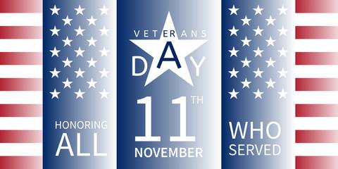 11 November, Veterans Day banner