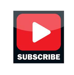 Multimedia Subscribe Button Vector