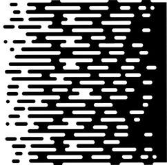 Vector Halftone Transition Abstract Wallpaper Pattern. Seamless Black And White Irregular Rounded Lines Background for modern flat web site design