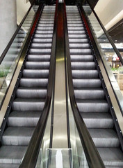 Symmetric escalator to darkness
