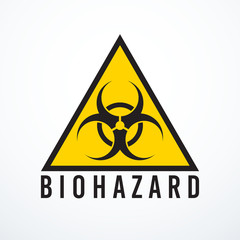 Vector biohazard sign