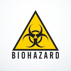 Vector biohazard sign