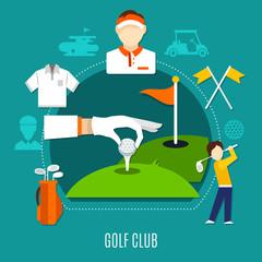 Wall Mural - Golf Club Composition