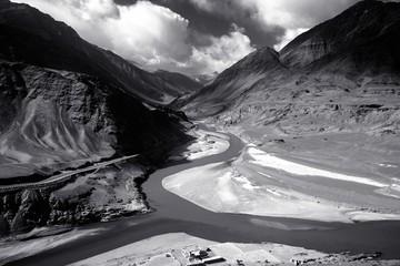 Landscape screen of Ladakh Region, Jammu and Kashmir State, India
