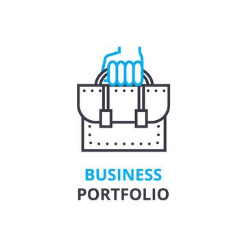 Business portfolio concept , outline icon, linear sign, thin line pictogram, , flat illustration, vector