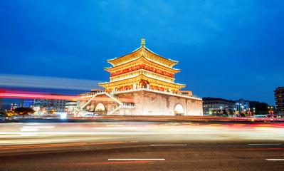 Xi'an bell tower night view