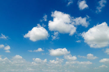 The blue sky alternates with a white cloud.Can be made to the background image.