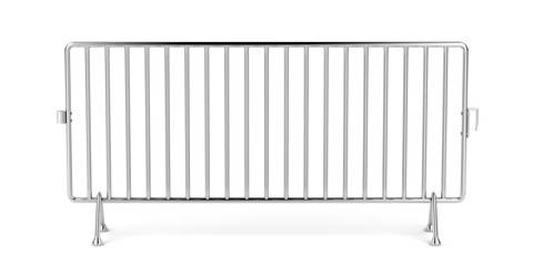 Mobile fence on white