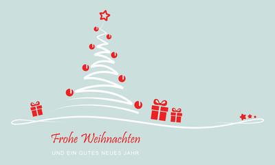 """Weihnachten - """"Weihnachtsbaum mit Geschenken"""" (Grün)"""