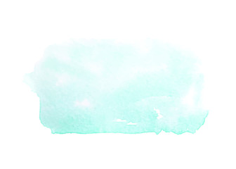 Abstract blue watercolor stains