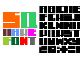 Square mosaic font