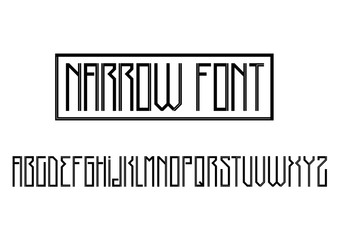 Modern Gothic font