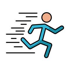 Man running pictogram icon vector illustration graphic design
