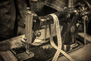 Antique Sewing Machine, shot with very old Vintage Lens