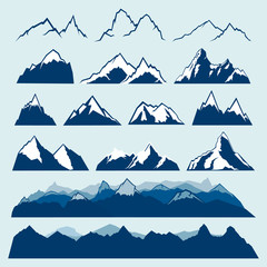 mountains vector set