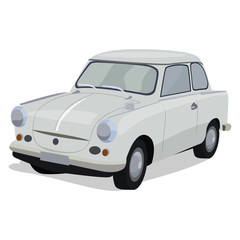 Vector illustration of a small car.