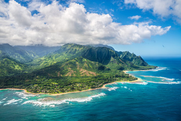 View on Napali Coast on Kauai island on Hawaii Wall mural