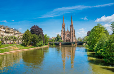 Saint Paul's Church in Strasbourg, Alsace, France