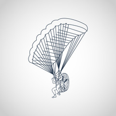Paragliding vector logo icon illustration