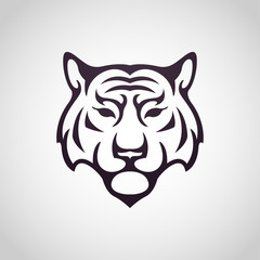 Tiger vector logo icon illustration