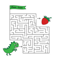Cartoon Dinosaur Maze Game