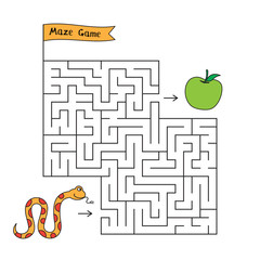 Cartoon Snake Maze Game