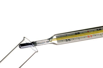 Medical mercury thermometer, creative set.