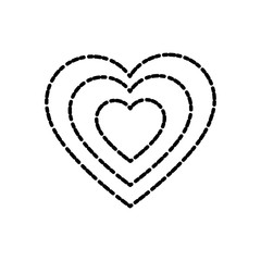 Heart love symbol icon vector illustration graphic design