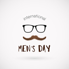 International men day vector poster
