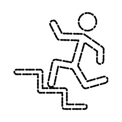 Man running pictogram icon vector illustration graphic design