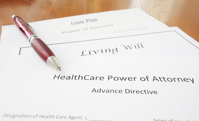 Power of Attorney, Living Will and Estate plan