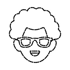 Man with glasses icon vector illustration graphic design