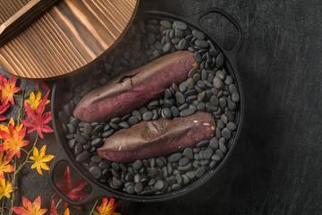 焼きたて石焼き芋 Stone baked sweet potato