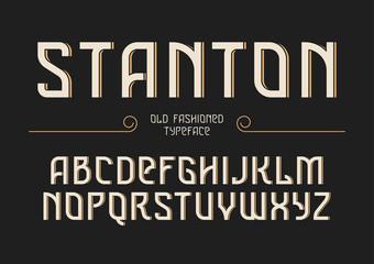 Stanton decorative vector vintage retro typeface, font, alphabet