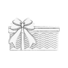 gift box with ribbon bow icon image vector illustration design