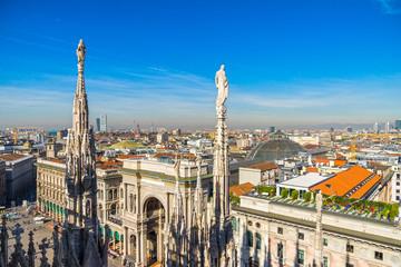 Skyline of Milan,  Italy.