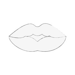 lips of a woman with lipstick icon image vector illustration design
