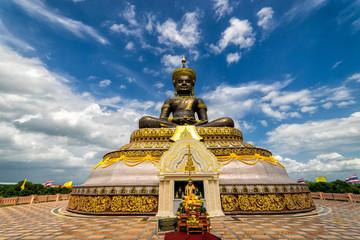 The biggest Phra Phuttha Maha Tammaracha black buddha statue at Pechabura Buddhist Park in Petchabun Provice, Thailand