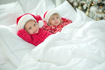 Little children at Christmas