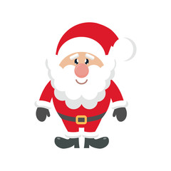 cartoon cute santa claus on a white background