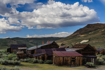 Ruined Houses in an American Ghost Town