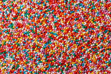 Multicolored candy drops
