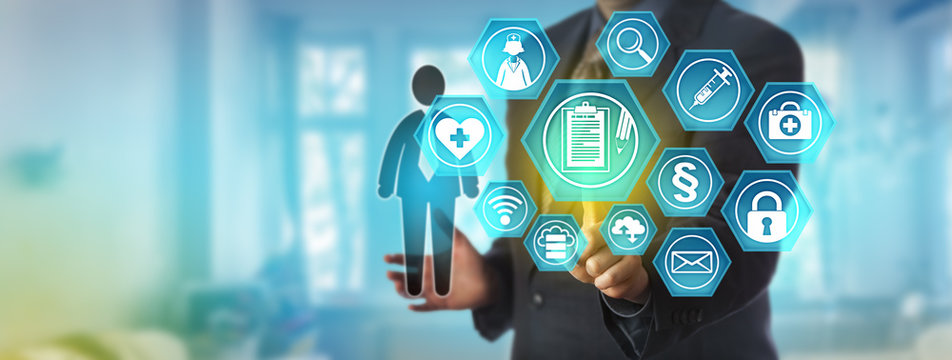 Data Administrator Accessing Health Record