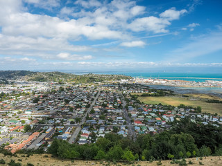 Aerial view form the Center of New Zealand, Nelson.