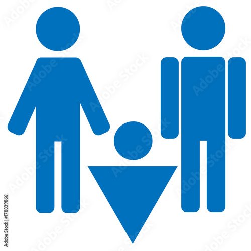 Gender Icon Symbol Male Boy Man Icon Blue Vector Symbol