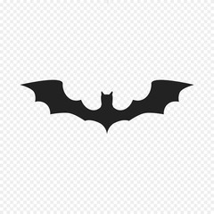 Bat Icon Isolated on Light Background. Vector Bat, Flittermouse, Flier. Use for Web, Logo, Banner and etc. Flat Illustration.