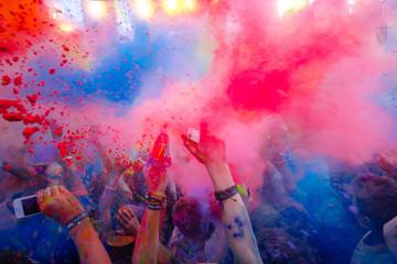 Holi celebration 9 September 2017 Moldova Chisinau Darwin Color Fest