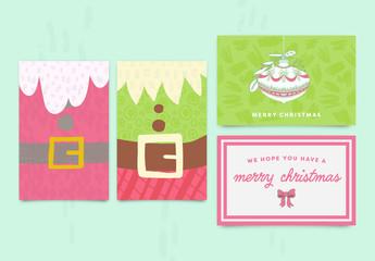 Christmas Greeting Card Set 2