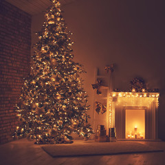 Christmas decor home night